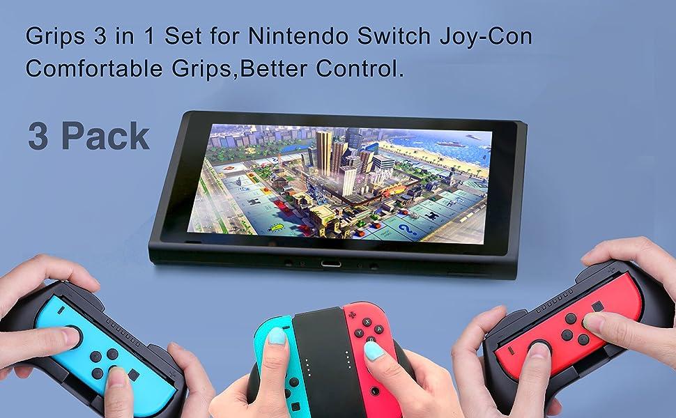 Amazon.com: Empuñadura para Nintendo Switch Joy-Con, juego ...