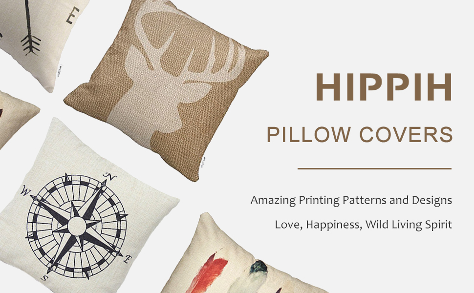 4 packs 18 x 18 inch hippih throw pillow covers for your comfortable home