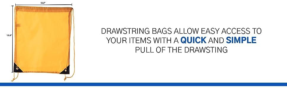 dimensions cinch bag