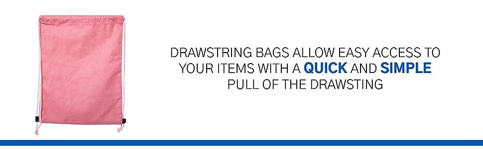 quicka nd simple storage big size. cinch bag