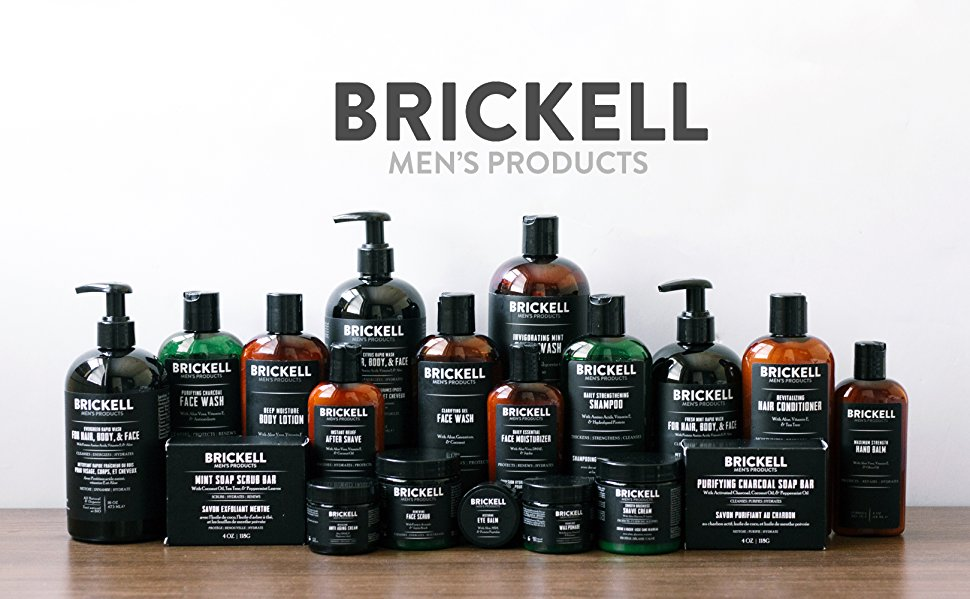 Amazon Com Brickell Men S Daily Advanced Face Care Routine Ii Activated Charcoal Facial Cleanser Face Scrub Face Moisturizer Lotion Natural And Organic Scented Beauty