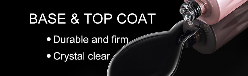 Top coat and base coat gel nail