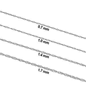 cadenas de oro blanco de plata sivler sliver platinum white gold nekcalce neckalce neckalce jewellry