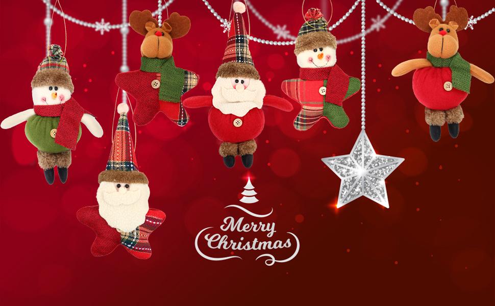 Decoration Cloth Candy Jars Stockings Xmas Tree pendants Gingerbread Man