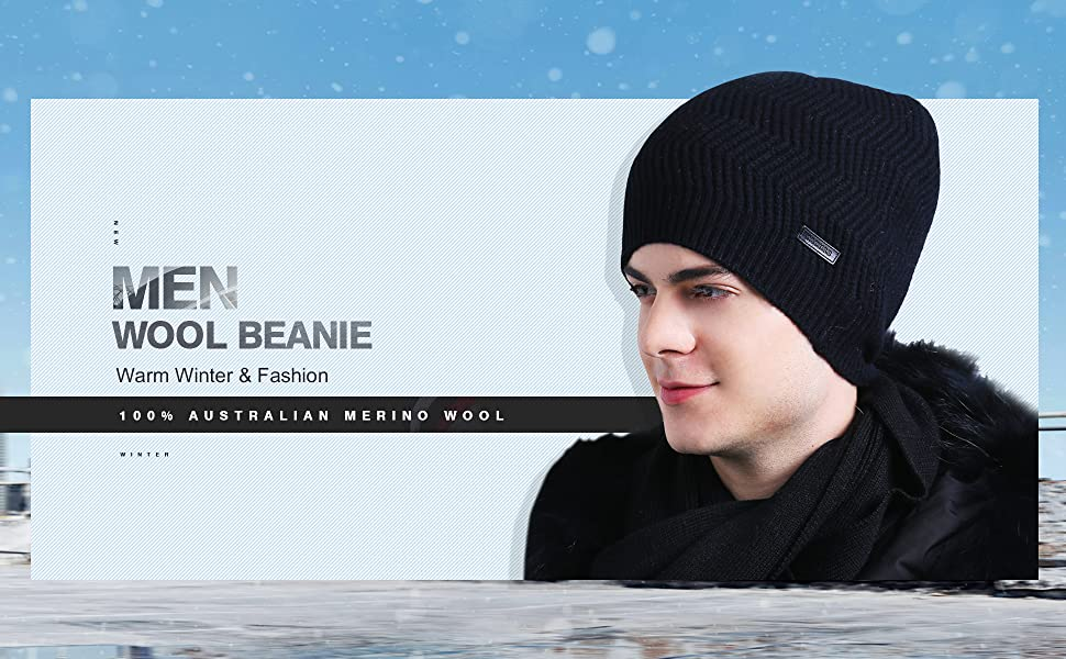 1a6841be CACUSS 100% Merino Wool Beanie Hat. Keep warm this fall and winter ...