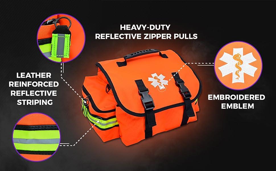 emt bag, star of life, reflective, mb20, lightning x, lxmb20-skb, b kit, fill kit, first aid