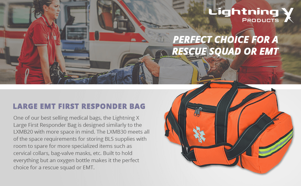 Lightning X Large Emt First Responder Bag W Dividers