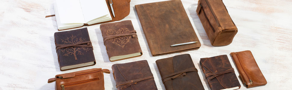 leather tree of life journal and other notebooks by moonster