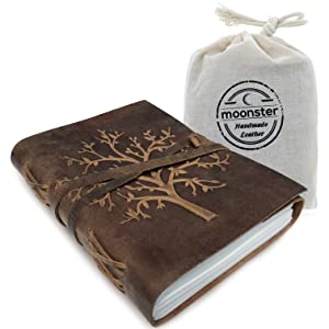 LEATHER JOURNAL TREE OF LIFE HANDMADE NOTEBOOK WITH GIFT BAG