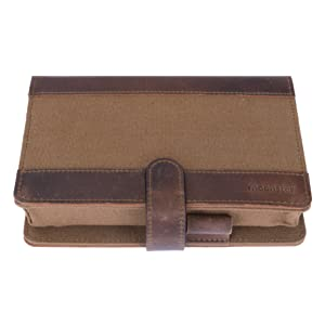 leather and canvas pill organizer case