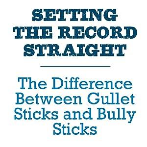 """Gullet Sticks, Six Inch Gullet Sticks, 6"""" Gullet Sticks, Joint Jerky Dog Treats Chews, Seresto"""