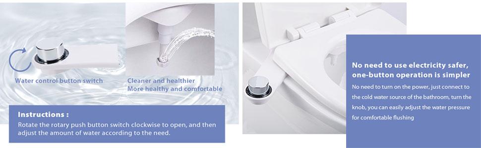 ca8e05dedc27e Homlex Bidet Cold Water Spray Non-Electric Mechanical Bidets Toilet  Attachment NB-1500