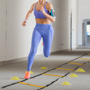 7m MonkeyJack 13 Rung 7M Agility Ladder Speed Soccer Sport Football Fitness Feet Train Training Blue