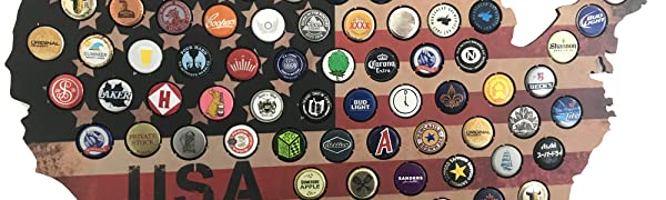 beer, craft beer gifts, USA beer cap map, gifts for boyfriend, bottle caps, beer gifts, beer signs,