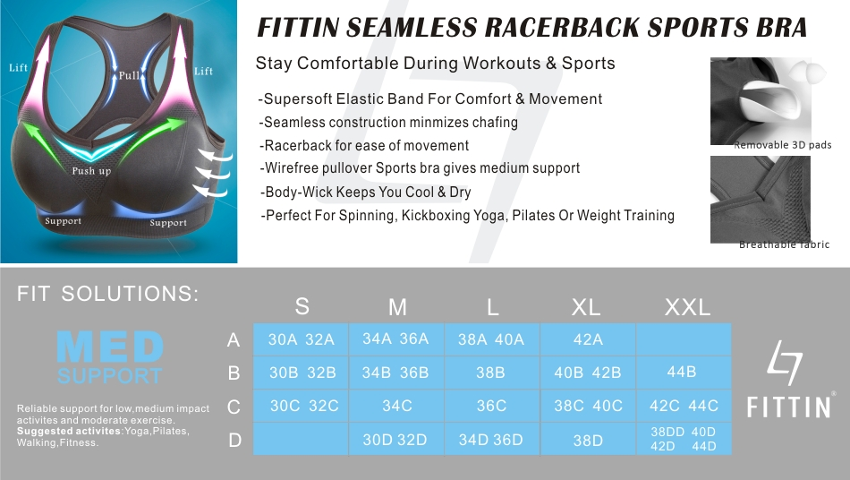 b963cce41b31c Smooth and soft. FITTIN sports bras deliver superior support   comfort  during workouts.