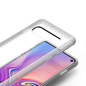VRS Design Samsung Galaxy S10 Case Series Clear Transparent Crystal Chrome