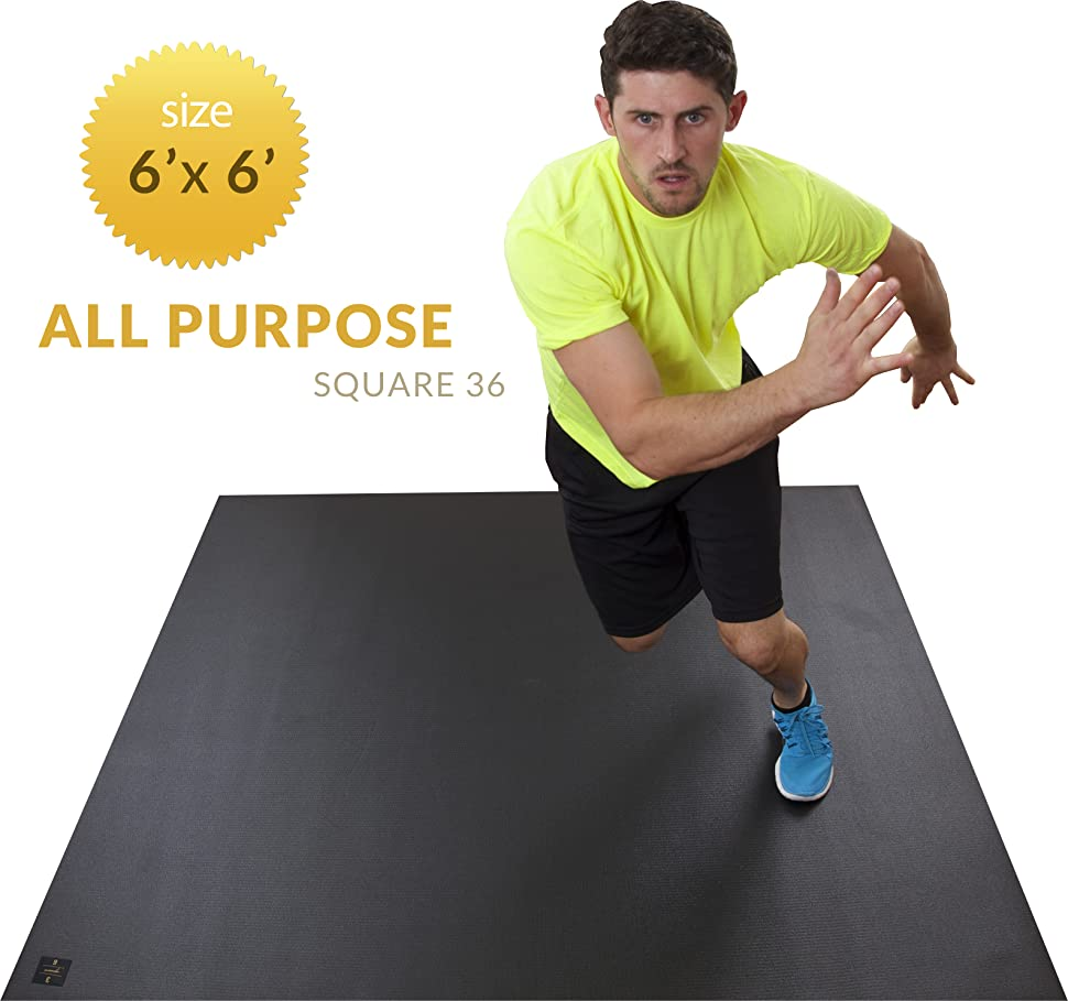 "Amazon.com : Square36 Large Exercise Mat 72"" Wide X 72"