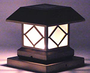 Amazon Com Solar Light Post Cap Lights 4 X 4 Plus