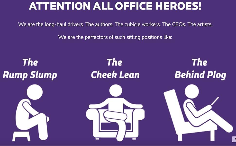 Amazon.com: The Everywhere Purple cojín para asiento ...