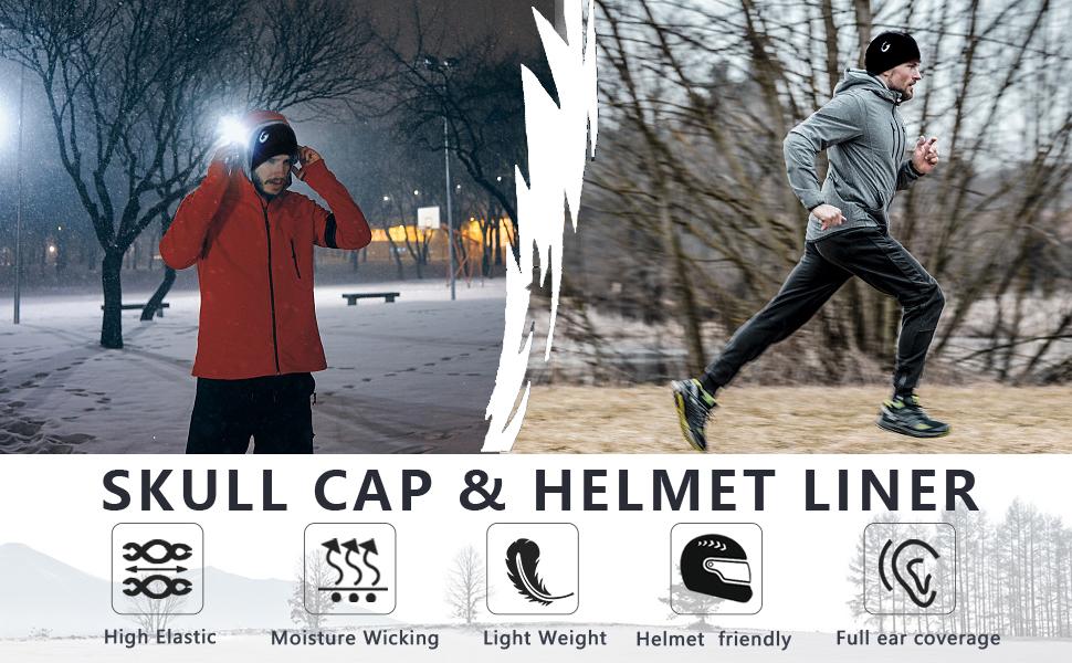 857a686aeae93 Amazon.com  JOEYOUNG Helmet Liner Skull Cap Running Beanie for Men ...