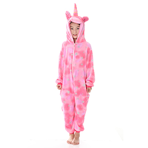 8c1387f96 Amazon.com: JYUAN Kids Soft Unicorn Onesie Animal Pajamas Halloween ...