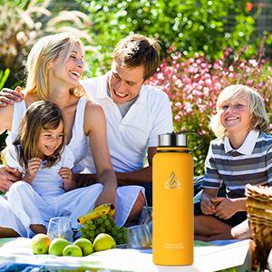 stainless steel water bottle for family