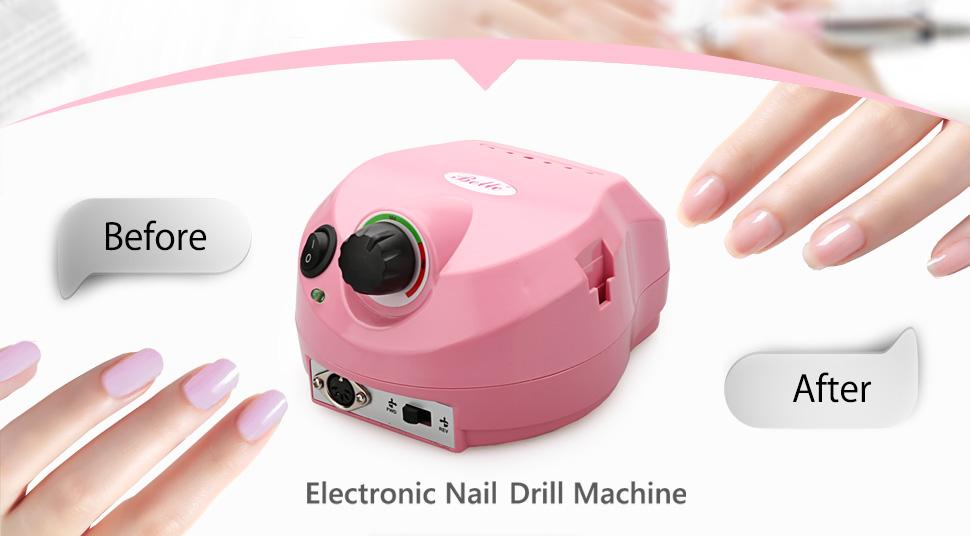 Amazon.com: Belle 30,000RPM Nail Drill Machine Electric Nail File ...