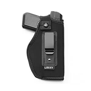 LIRISY Inside The Waistband Holster | Gun Concealed Carry IWB Holster |  Fits S&W M&P Shield/Glock 26 27 29 30 33 42 43 / Springfield XD XDS/Ruger  LC9