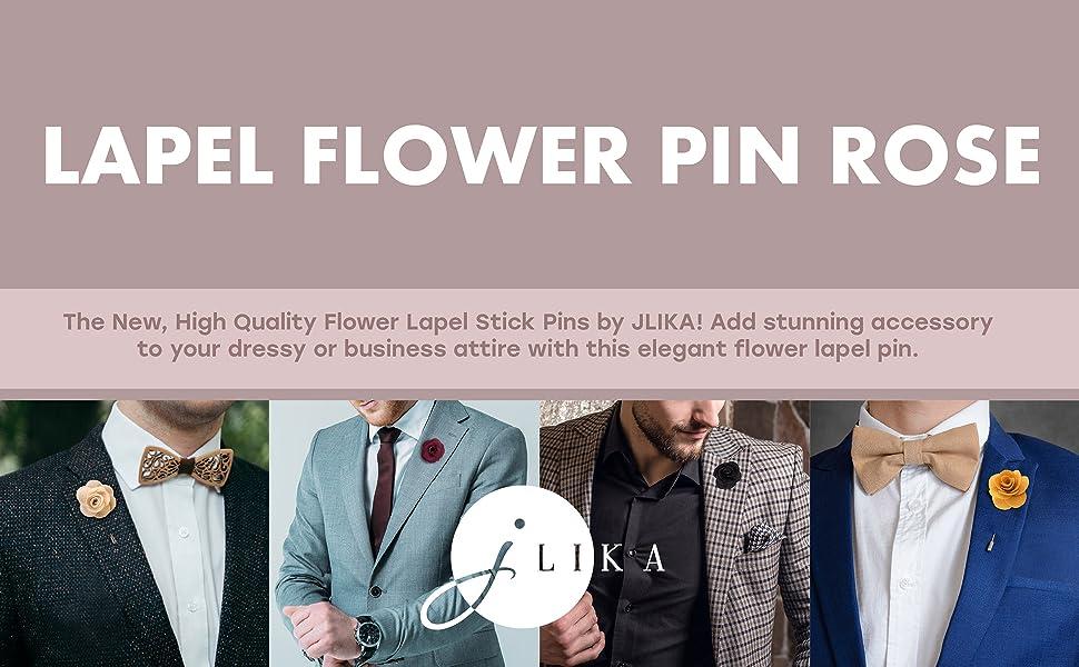 d96b0b22a4f Amazon.com: Lapel Pins for Men Flower Pin Rose for Wedding ...