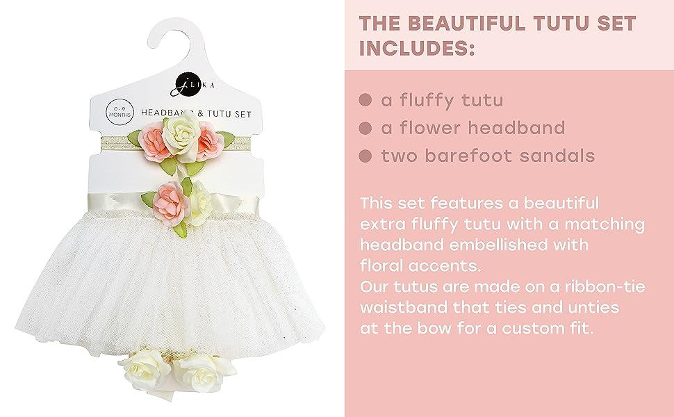 Amazon.com: Conjunto de tutú para recién nacido, falda con ...