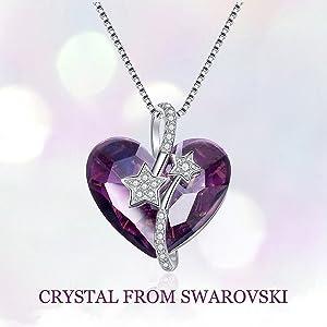 purple swarovski crystal