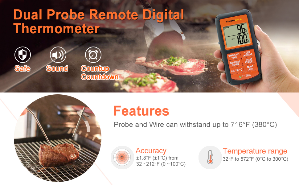dul probe remote digital thermometer