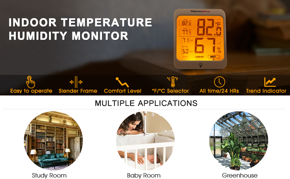 ThermoPro Digital Indoor Hygrometer Humidity Thermometer