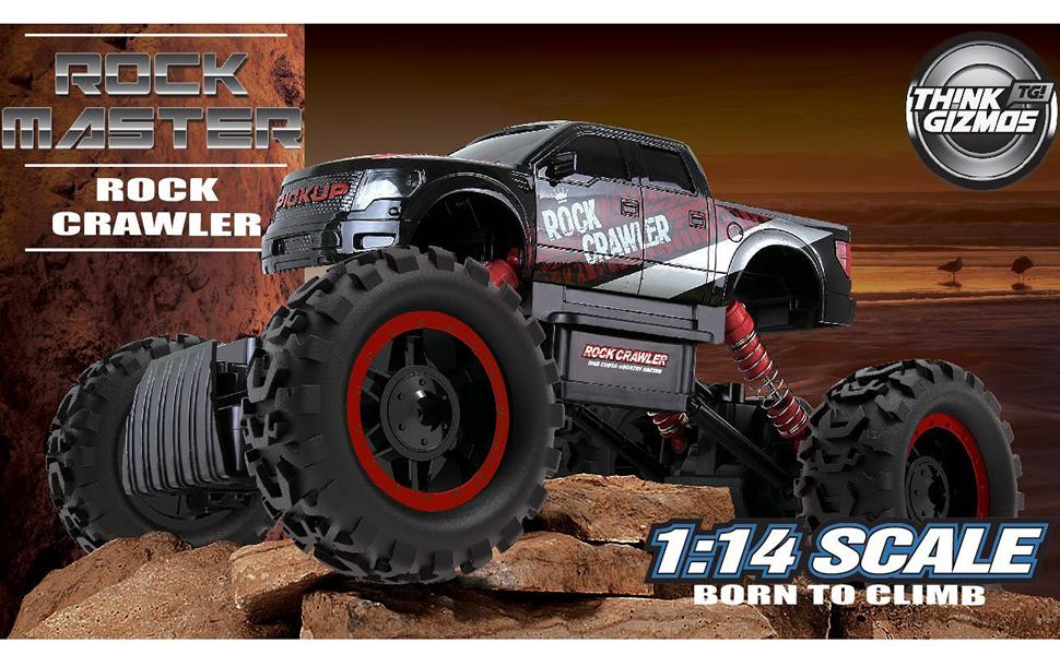 Amazoncom Large Rock Crawler RC Car Inches Long X - Cool cars 4x4