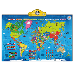 Amazon interactive talking world map for kids tg661 push child the gift of learning with this wonderful interactive and educational map includes over 1000 amazing facts about different countries of the world gumiabroncs Image collections
