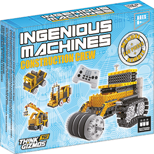 Think Gizmos Build Your Own Robot Toys for Kids – Ingenious Machines Remote  Control Robot Building Kit … (Crane, Forklift, Bulldozer & Truck)