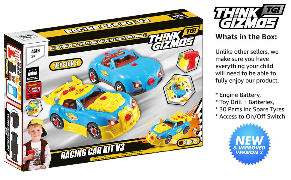 Amazon Com Think Gizmos Take Apart Toys Range Build Your Own Toy