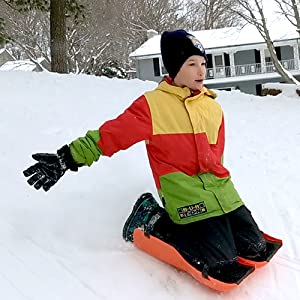 Amazon.com : Sled Legs Wearable Snow Sleds – Fun Winter Accessories with Leg  Support – Family Friendly Winter Activities – Exciting Winter Fun in The  Snow (Action Green, Large) : Sports & Outdoors