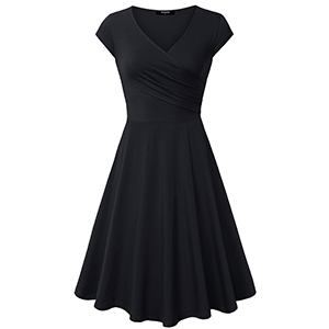 black dress v neck