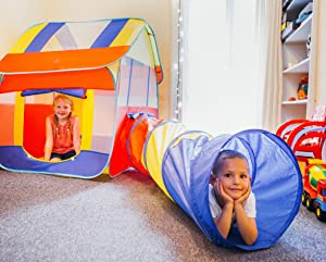 SUPER-FUN INDOOR PLAYHOUSE FOR THOSE RAINY WINTER DAYS!  sc 1 st  Amazon.com : toddler playhouse tent - memphite.com