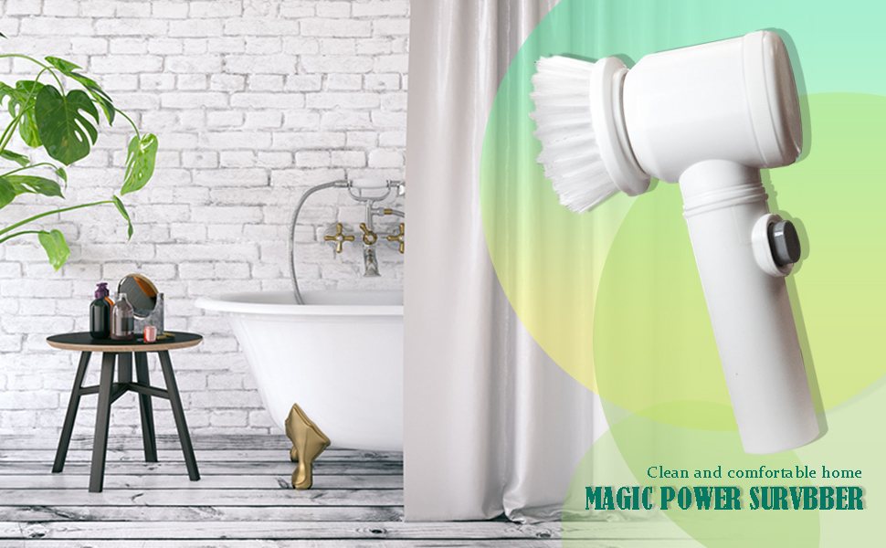 power scrubber clorox scrubtastic hurricane scrubber drill brush attachment automatic cleaner