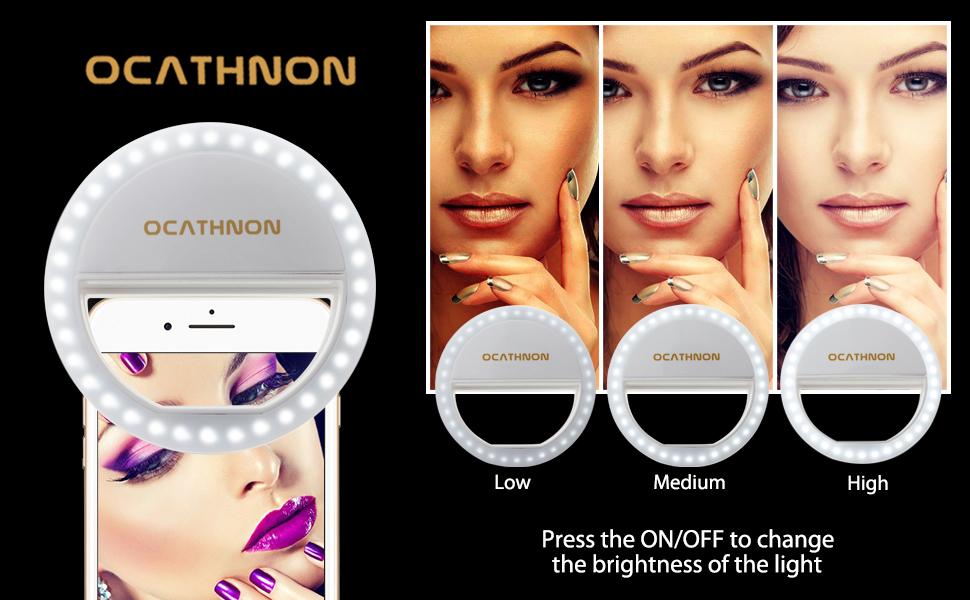 Makeup Ring And Lights: Amazon.com: Ocathnon Ring Lights For IPhone Selfie Ring