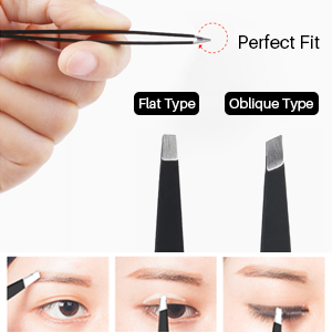 Two eyebrow tweezers