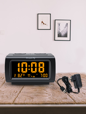 Clock with adapter