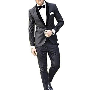 Amazon.com: hzwl Padrino nueva llegada Tuxedos 5 estilo ...