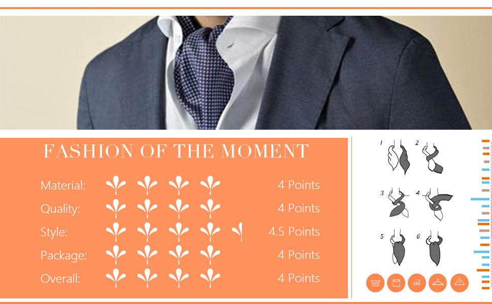 Details about  /Men/'s Fashion Satin Set of 3 Cravats Self-tie Ascot Ties Set