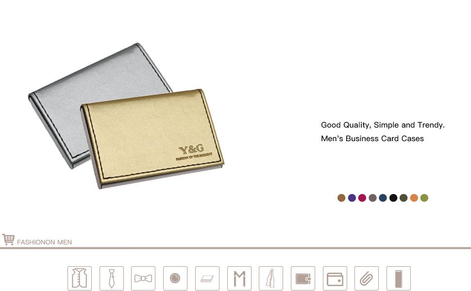 CC1013 Dark Black business card case fashion gift Black Stainless ...