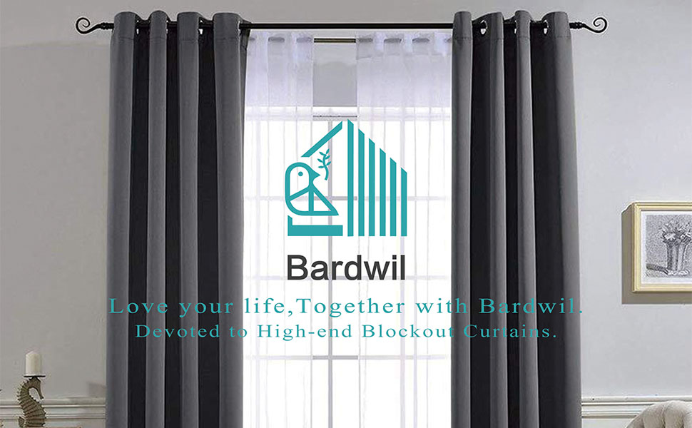 Bardwil Blackout Curtains Panels for Bedroom Window Curtain Panels Treatment Thermal Insulated Solid Grommet Blackout Drapes 2-Pack, 52 x 72 inch, Blue