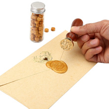 Details about  /DIY Craft Vintage Box with Sealing Wax Beads Candle Detachable Spoon Stamp Set