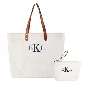 personalized canvas bag shoulder bag for wedding